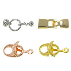 Zinc Alloy Leather Cord Clasp
