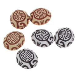 Imitation Ox Bone Acrylic Beads