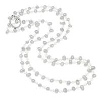 Collier de perles cristal d'eau douce
