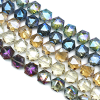 Hexagon Crystal Beads