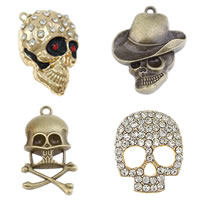 Zinc Alloy Skull Pendants