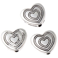 Zinklegering Heart Beads