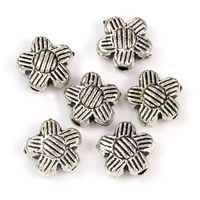 Zinc Alloy Flower Beads
