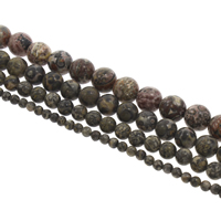 Natural Leopard Skin Stone Bead