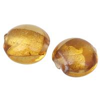 Perles de Murano feuille d'or