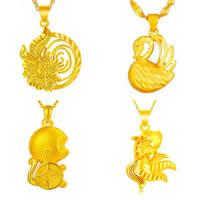 24 K Gold Kleur vergulde hanger