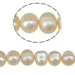 Potato Cultured Freshwater Pearl Beads, natural, pink, 7-8mm, Hole:Approx 0.8mm, Sold Per 14.3 Inch Strand