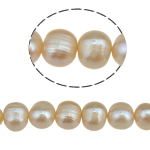 Potato Cultured Freshwater Pearl Beads, natural, pink, 8-9mm, Hole:Approx 0.8mm, Sold Per 15 Inch Strand