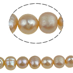 Potato Cultured Freshwater Pearl Beads, natural, pink, 5-6mm, Hole:Approx 0.8mm, Sold Per 14.5 Inch Strand