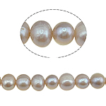 Round Cultured Freshwater Pearl Beads, natural, purple, Grade A, 9-10mm, Hole:Approx 1.5mm, Sold Per 14.5 Inch Strand