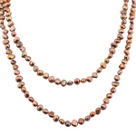 Natural Freshwater Pearl Necklace Nuggets brown 5-7.5mm Sold Per 46 Inch Strand