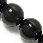 Natural Black Agate Beads, Round shape, perfect for jewelry making, 10mm, Hole:Approx 1.5-2mm, 5Strands/Group, Length:15 Inch, Sold by Group