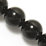 Black Diamond Beads, Round, 6mm, Hole:Approx 0.8mm, Length:Approx 15 Inch, 10Strands/Lot, Approx 60PCs/Strand, Sold By Lot