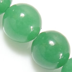 Natural Aventurine Beads, Green Aventurine, Round, green, 12mm, Hole:Approx 1.2mm, Length:Approx 15 Inch, 10Strands/Lot, Approx 32PCs/Strand, Sold By Lot
