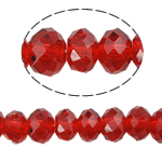 Rondelle Crystal Beads, imitation CRYSTALLIZED™ element crystal, siam, 8x10mm, Hole:Approx 1.5mm, Length:Approx 21 Inch, 10Strands/Bag, Sold By Bag