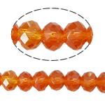 Kryształowe koraliki rondelle, Kryształ, Okrąg, imitacja kryształu CRYSTALLIZED™, ognisty opal, 4x6mm, otwór:około 1mm, długość:około 17 cal, 10nici/torba, sprzedane przez torba