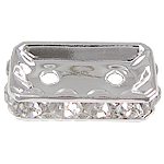 Rhinestone Spacers, 15.50x8x3.50mm, Hole:Approx 1.5mm, 100PCs/Bag, Sold By Bag