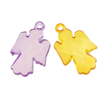 Acrylic Pendants, Angel, translucent, mixed colors, 20x32x6mm, Hole:Approx 2.5mm, 257PCs/Bag, Sold By Bag
