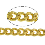 Brass Curb Chain gold color plated nickel lead   cadmium free 3.50x2.50x0.70mm Length:100 m