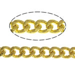 Brass Oval Chain, gold color plated, twist oval chain, nickel, lead & cadmium free, 2.50x2x1mm, Length:100 m, Sold By Lot