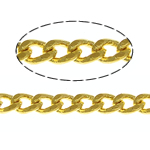 Brass Oval Chain, gold color plated, curb chain, nickel, lead & cadmium free, 1.80x1.30x0.70mm, Length:100 m, Sold By Lot