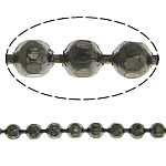 Brass Ball Chain, plumbum black color plated, faceted, nickel, lead & cadmium free, 1.20mm, Length:100 m, Sold By Lot