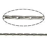 Brass Boston Chain, platinum color plated, cobra chain, nickel, lead & cadmium free, 0.60mm, Length:100 m, Sold By Lot