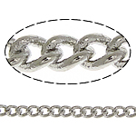 Brass Oval Chain, platinum color plated, twist oval chain, nickel, lead & cadmium free, 2x1.50x0.30mm, Length:100 m, Sold By Lot
