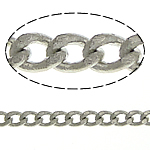 Brass Curb Chain platinum color plated nickel lead   cadmium free 1.80x1.30x0.30mm Length:100 m