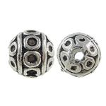Zinc Alloy Jewelry Beads, Round, antique silver color plated, nickel, lead & cadmium free, 8mm, Hole:Approx 0.5mm, Approx 660PCs/KG, Sold By KG