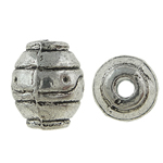 Zinc Alloy Jewelry Beads, Oval, antique silver color plated, nickel, lead & cadmium free, 9x8mm, Hole:Approx 2mm, Approx 526PCs/KG, Sold By KG