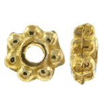 Zinc Alloy Spacer Beads, flower, antique gold color, nickel, lead & cadmium free, 4.5x2mm, Hole:Approx 1.5mm , about10000pcs/KG , Sold by KG