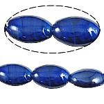 Wewnętrznie skręcone koraliki szklane, Lampwork, Owal, niebieski, 18x25x10mm, otwór:około 2mm, 100komputery/torba, sprzedane przez torba