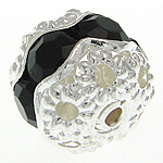 Rhinestone Jewelry Beads, 8.50x7.50mm, Hole:Approx 1.2mm, Sold by Bag