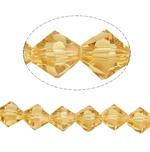 Bicone Crystal Beads, Kristal, gefacetteerde, Zon, 8x8mm, Gat:Ca 1.5mm, Lengte:12.5 inch, 10strengen/Bag, Verkocht door Bag
