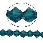Bicone Crystal Beads, Kristal, gefacetteerde, Indicolite, 6x6mm, Gat:Ca 1mm, Lengte:10.5 inch, 10strengen/Bag, Verkocht door Bag