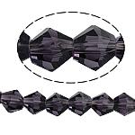 Bicone Crystal Beads, Kristal, gefacetteerde, Violet, 8x8mm, Gat:Ca 1.5mm, Lengte:12.5 inch, 10strengen/Bag, Verkocht door Bag