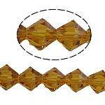Bicone Crystal Beads, Kristal, gefacetteerde, Topaas, 8x8mm, Gat:Ca 1.5mm, Lengte:10.5 inch, 10strengen/Bag, Verkocht door Bag