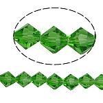Bicone Crystal Beads, Kristal, gefacetteerde, Fern Green, 8x8mm, Gat:Ca 1.5mm, Lengte:10.5 inch, 10strengen/Bag, Verkocht door Bag