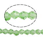 BICONE كريستال الخرز, بلور, الأوجه, الزبرجد حجر كريم, 5x5mm, حفرة:تقريبا 0.5mm, طول:11.5 بوصة, 10جدائل/حقيبة, تباع بواسطة حقيبة