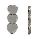 Коннекторы из медированного пластика, Пластик с медным покрытием, Сердце, Платиновое покрытие платиновым цвет, 1/1 петля, не содержит никель, свинец, 22x60x6mm, отверстие:Приблизительно 2mm, 5Сумки/Лот, 100/сумка, продается Лот