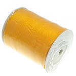 Organza Ribbon, with plastic spool, orange, nickel, lead & cadmium free, 6mm, Length:500 Yard, Sold By PC