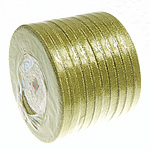 Sparkle Ribbon, gold, 6mm, Length:250 Yard, 10PCs/Lot, Sold By Lot