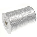 Sparkle Ribbon, with plastic spool & Cardboard, silver, 3mm, Length:880 Yard, Sold By PC