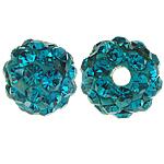 Gliniane koraliki z kryształem górskim, Glina, Koło, z 50 sztuk kryształu górskiego & z kamieniem klasy A, 6mm, otwór:około 1.5mm, 10komputery/torba, sprzedane przez torba