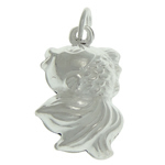 925 Sterling Silver Pendant, Fish, 10x16.90x7.80mm, Hole:Approx 4mm, Sold By PC