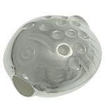 Srebrne koraliki 925, Srebro 925, Ryba, 12.40x12.50x7.80mm, otwór:około 3.2mm, 5komputery/torba, sprzedane przez torba