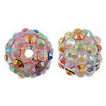 Resin Rhinestone Beads, 12x14mm, Hole:Approx 3mm, Sold by Bag