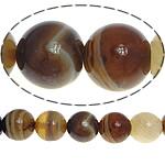 الطبيعية الخرز العقيق الرباط, الدانتيل العقيق, جولة, لون القهوة عميق, 10mm, حفرة:تقريبا 1.2mm, طول:تقريبا 15.5 بوصة, 5جدائل/الكثير, تباع بواسطة الكثير