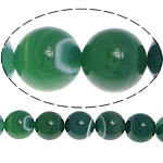 Natural Green Agate Beads, Round, stripe, 12mm, Hole:Approx 1.2mm, Length:Approx 15.5 Inch, 5Strands/Lot, Sold By Lot